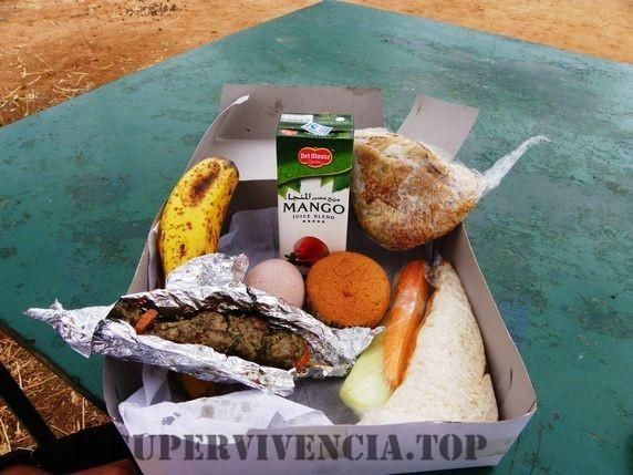 comida de camping