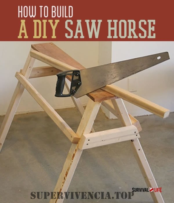 Cómo construir un caballete para sierra